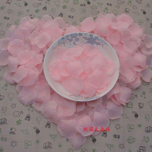 Lot of 480pcs Fake Pink Wedding Blue Rose Petal Life Size