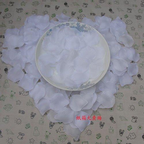 Lot of 480pcs Fake White Wedding Blue Rose Petal Life Size