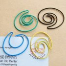 Lot of 96pcs Paper Clip Twist Shaped / Bookmark office