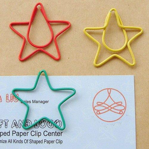 Lot of 96pcs Paper Clip Star Pentagram Shaped / Bookmark office