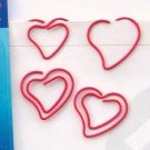 Lot of 96pcs Paper Clip Heart Shaped / Bookmark office