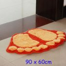 Plush Furry Large Foot Shape Door Mat  90 x 60cm