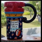 Hand Painted Cup Mug Vase Studio Teacher Design