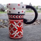 Hand Painted Cup Mug Vase Studio Pattern Design