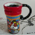 Hand Painted Cup Mug Vase Studio Cow Design
