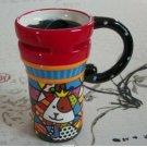 Hand Painted Cup Mug Vase Studio Cow Design