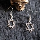 Star of David Hexagram Earrings charm earring - Goth Supernatural