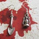 Grave Robber Shovel & Lamp Earrings charm earring- Goth Supernatural