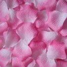 Lot of 480pcs Fake Pink white Wedding Rose Petal Life Size