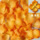 Lot of 480pcs Fake Orange Wedding Rose Petal Life Size B2