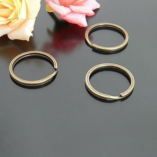 30pcs Split 27mm Key Ring Chain Metal Brass Jewelry Finding