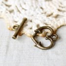 20 Sets Jewelry Repair DIY Heart Clasp Toggle Finding/jewelry accessory