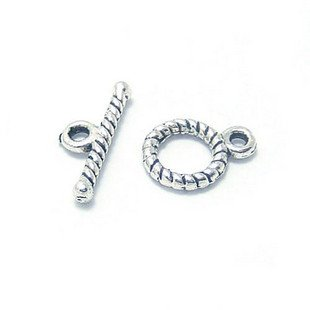30 Sets Jewelry Repair DIY Flower Clasp Toggle Finding/jewelry accessory 12 X 8mm