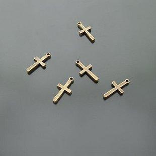 Lot of 100pcs mini Cross dollhouse miniature toy/jewelry bracelet metal alloy Charm