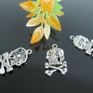 Lot of 300pcs  Skull /jewelry bracelet  metal alloy Charm Fit Pendant CM840