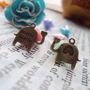 Lot of 500pcs Love Elephant dollhouse miniature toy/jewelry bracelet  metal alloy Charm B2