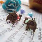 Lot of 500pcs Love Elephant dollhouse miniature toy/jewelry bracelet  metal alloy Charm B2