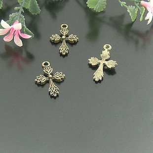 Lot of 500pcs Cross 26 X 17MM dollhouse miniature toy/jewelry bracelet  metal alloy Charm A1