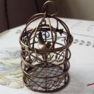 BIg Bird Cage 75 X 34MM dollhouse miniature toy/jewelry bracelet  metal alloy Charm A1