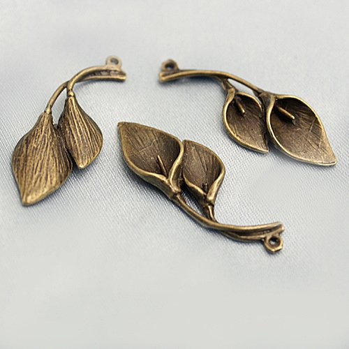 Lot of 100pcs CAlla 37 x 14mm dollhouse miniature toy/jewelry bracelet  metal alloy Charm