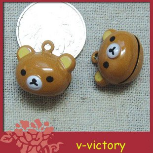 10 x Cartoon Bell Dog Pet Cat Collar Bear B2 animal 2cm