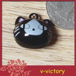 10 x Cartoon Bell Dog Pet Cat Collar Black Cat animal 2cm