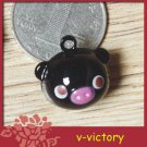 10 x Cartoon Bell Dog Pet Cat Collar Black Pig animal 2cm