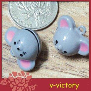 10 x Cartoon Bell Dog Pet Cat Collar Mouse 2cm B3