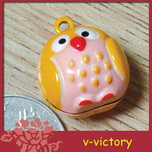 10 x Cartoon Bell Dog Pet Cat Collar OWL 2cm