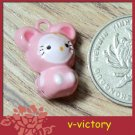 10 x Cartoon Bell Dog Pet Cat Collar Pink Mouse 2cm