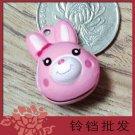 10 x Cartoon Bell Dog Pet Cat Collar Rabbit Head 2cm