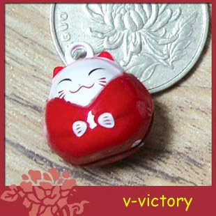 10 x Cartoon Bell Dog Pet Cat Collar Fortune Cat 2cm B2