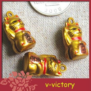 10 x Cartoon Bell Dog Pet Cat Collar Fortune Cat 2cm B3