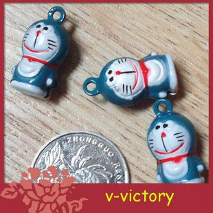 10 x Cartoon Bell Dog Pet Cat Collar Doraemon Cat 2cm
