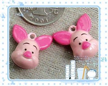 10 x Cartoon Bell Dog Pet Cat Collar Long Ear Pig 2cm