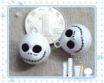 10 x Cartoon Bell Dog Pet Cat Collar Skull Halloween  2cm