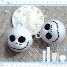 10 x Cartoon Bell Dog Pet Cat Collar Skull Halloween  2cm