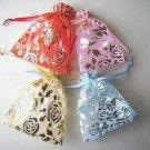 100pcs 7 x 9cm Rose Organza Bag Jewelry gift Bag Wedding Accessory Pouch