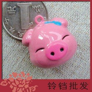 5 x  Big Cartoon Bell Dog Pet Cat Collar Pig Animal 3cm