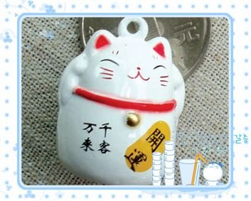 5 x  Big Cartoon Bell Dog Pet Cat Collar Fortune Cat 3cm A3
