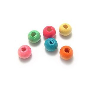 50pcs 8 X 10 wooden Wood beads Finting Finding  Assorted Color