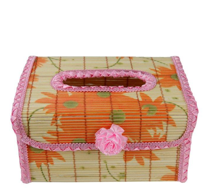 Original Bamboo Tissue BOOK  holder souvenir/gift Pink