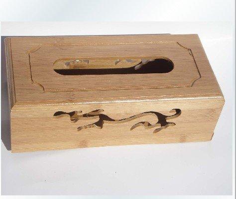 Original Bamboo Wood Dragon Tissue BOOK  holder souvenir/gift