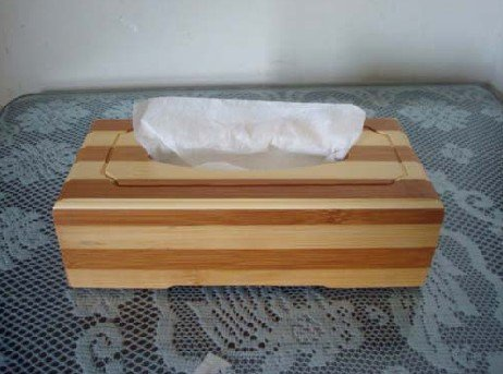 Original Bamboo Wood Strip Tissue BOOK  holder souvenir/gift