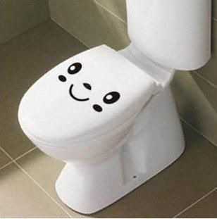 2pcs Funny Face Wall Sticker Art Toilet Bathroom Vinyl Decor