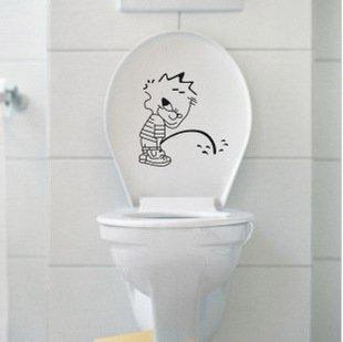 2pcs Bad Boy Wall Sticker Art Toilet Bathroom Vinyl Decor