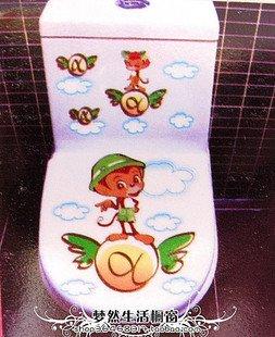 2pcs Cute Monkey Wall Sticker Art Toilet Bathroom Vinyl Decor