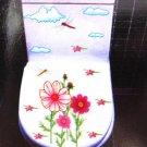 2pcs Flower Wall Sticker Art Toilet Bathroom Vinyl Decor B3