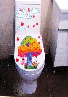 2pcs Tree Wall Sticker Art Toilet Bathroom Vinyl Deco B2r