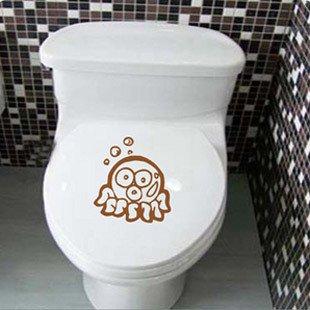 2pcs Octopus Wall Sticker Art Toilet Bathroom Vinyl Deco B3